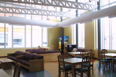 Inside King Street Residence first floor, 2004