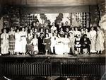 """Cast of """"Hearts and Blossoms"""", St. John's Lutheran Church"""