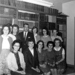 Waterloo Lutheran University Library staff