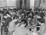Waterloo College students eating a meal