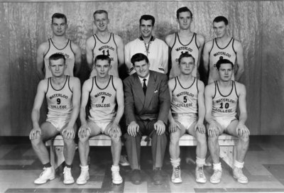 Waterloo College Mens Basketball Team 1954 55