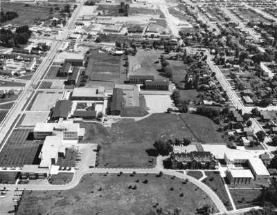 Aerial view of Waterloo Lutheran University, 1964