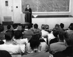Mary Kathleen Lane lecturing at Waterloo Lutheran University