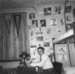 Don Moffat in dormitory, Waterloo College