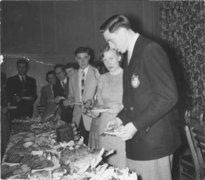 Buffet meal at Waterloo College Boarding Club Ball
