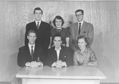 Waterloo College Sophomore Class Executive 1954 55