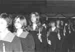 Waterloo Lutheran University Choir at Boar's Head Dinner, 1972