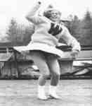 Waterloo Lutheran University cheerleader at Homcoming 1967
