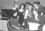 Presentation of the Solid Gold Cup at Waterloo College 1957 Reunion