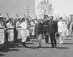 William Daum Euler with naval honour guard