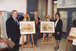 Unveiling of Peter Goetz paintings of Wilfrid Laurier University Library
