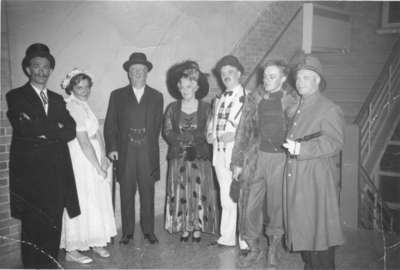 Waterloo College faculty members participating in the 1955 Purple and Gold Revue