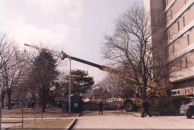 Construction on Wilfrid Laurier University campus, 2002