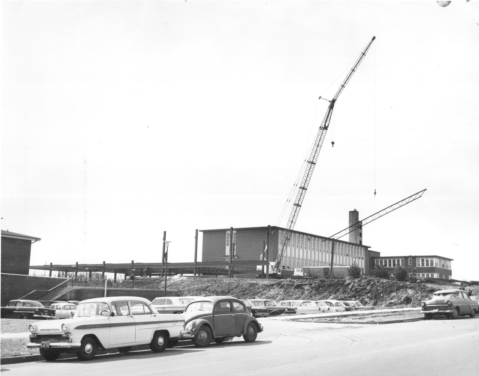 Construction of the Arts Building addition