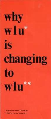 Why WLU is changing to WLU