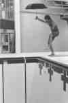 Ian Smith standing on diving board