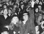 Waterloo Lutheran University football fans at the 1968 Canadian College Bowl