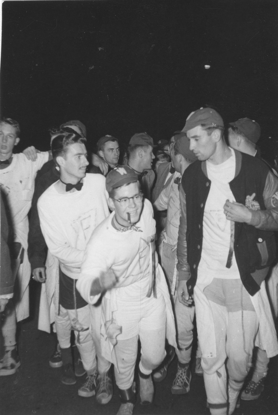 Waterloo College students during initiation week, 1955