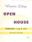 Waterloo College Open House souvenir program, February 7 and 8, 1957