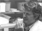 Frank Mallory studying a lemming