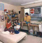 Students in residence room, Wilfrid Laurier University