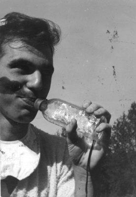Bev Hayes during Waterloo College initiation week, 1947