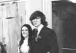 Man and woman attending a Waterloo Lutheran University Christmas party, 1972