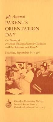 4th Annual Parent's Orientation Day for parents of freshmen, undergraduates & graduates - other relatives and friends : Saturday, September 24, 1966