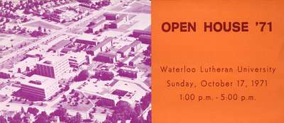 Open House '71 : Waterloo Lutheran University