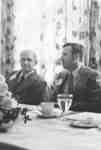 Sheldon Rahn and Francis Turner at Faculty of Social Work alumni lucheon, 1976