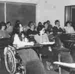 MSW students in classroom, 1985