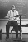 Robert Basso in classroom
