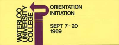 Waterloo University College orientation and initiation, September 7-20, 1969