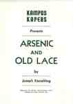 "Kampus Kapers presents ""Arsenic and old lace"" by Joseph Kesselring"