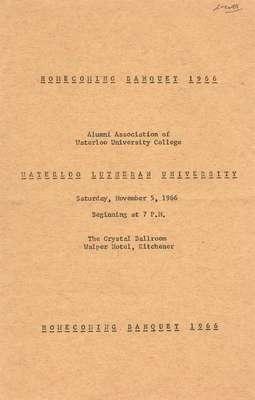 Homecoming Banquet 1966