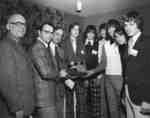 High School Stock Market Game award presentation, 1975