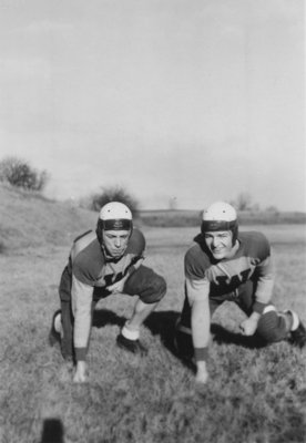 Two Waterloo College football players