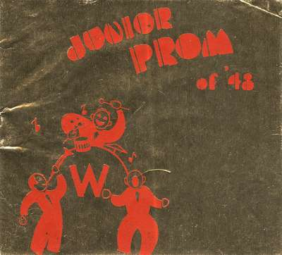 Waterloo College junior prom dance card, 1948