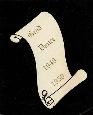 Waterloo College graduation dance card, 1950