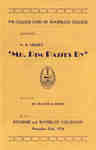 """The College Cord of Waterloo College presents A. A. Milne's """"Mr. Pim passes by"""" : at the Kitchener and Waterloo Collegiate, November 23rd, 1934"""