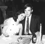 Man and woman at Waterloo Lutheran University graduation banquet, 1969