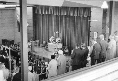 Waterloo Lutheran University baccalaureate service, May 1969