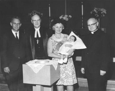 Baptism at St. Paul Evangelical Lutheran Church, Saint-Laurent, Quebec