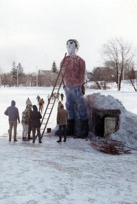 Waterloo Lutheran University Winter Carnival snow sculpture