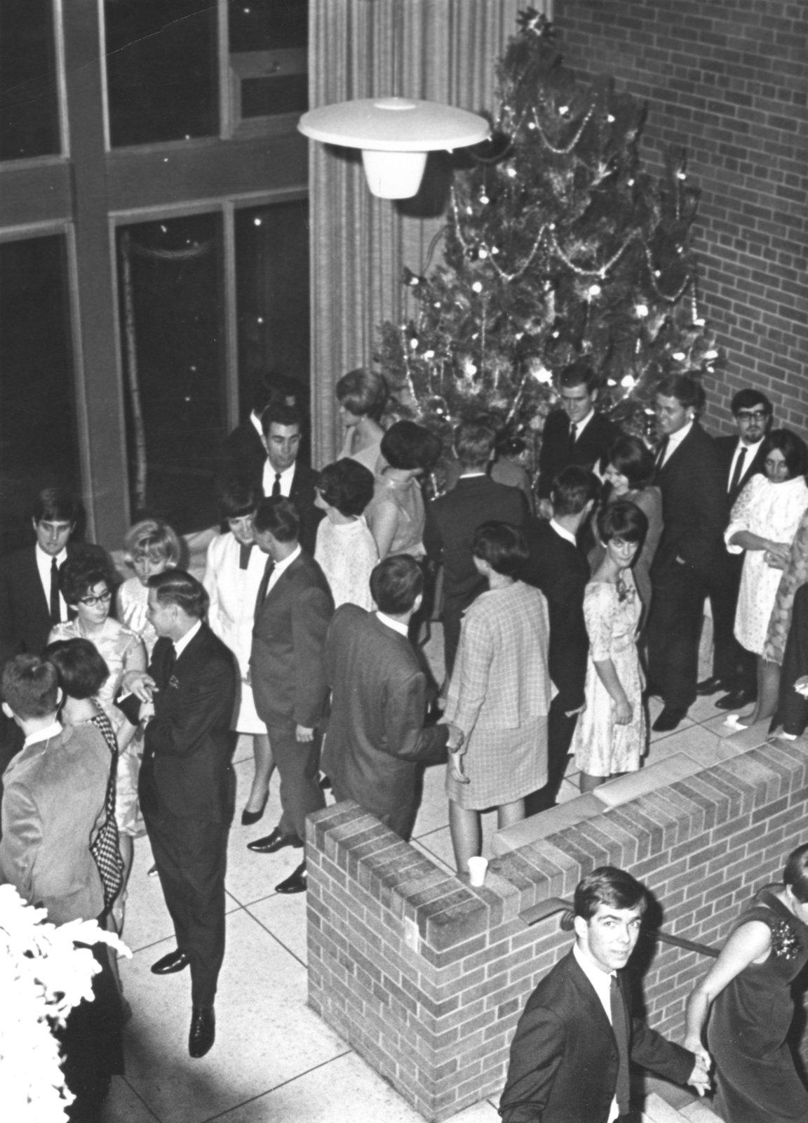 Women's residence Christmas party, Waterloo Lutheran University, 1967