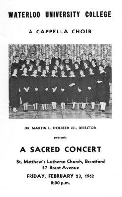 Waterloo University College A Cappella Choir
