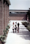 Students walking in quadrangle, Wilfrid Laurier University