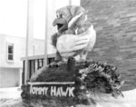 Waterloo Lutheran University Winter Carnival snow sculpture, 1965