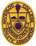 Honour crest, Waterloo College Athletic Association