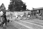 Boys track event, Waterloo College Invitation Games, 1947
